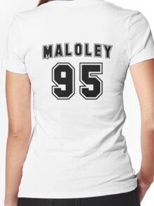 Skate Maloley Jersey Women's Fitted V-Neck T-Shirt
