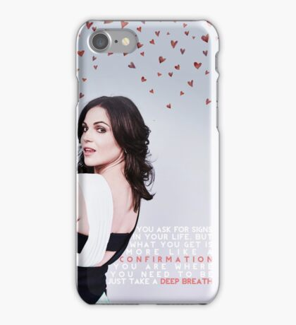 Lana Parrilla Deep Breath iPhone Case/Skin