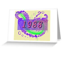 Vaporwave-1988 Greeting Card