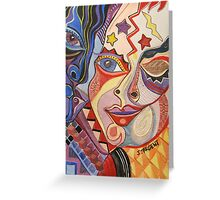 Face #2 Greeting Card