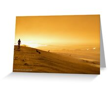 Walking Into Sunrise | Smith Point, New York Greeting Card