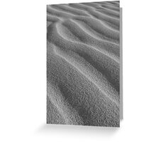 silver sand Greeting Card