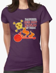 Red Hot Banjo Womens Fitted T-Shirt