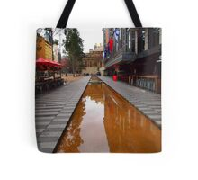 City Square on a wet day Melbourne VIC Australia Tote Bag