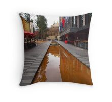 City Square on a wet day Melbourne VIC Australia Throw Pillow
