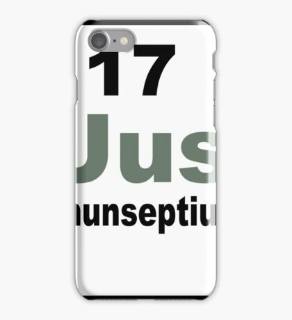 ununseptium periodic table of elements iPhone Case/Skin