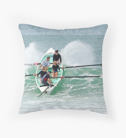 Surf boats at Lorne Throw Pillow