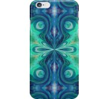 Turquoise oriental design iPhone Case/Skin