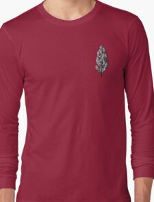 Gray Feather Long Sleeve T-Shirt