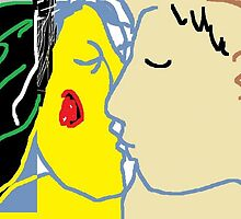 The Kiss VI -(030615)- MS Paint/Mouse drawn by paulramnora