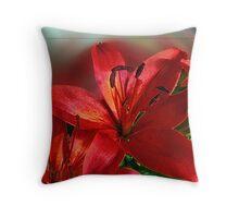 Asian Lily Throw Pillow