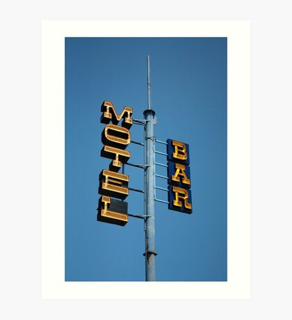 Motel / Bar Art Print