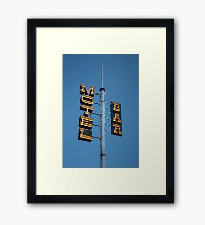 Motel / Bar Framed Print
