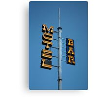 Motel / Bar Canvas Print