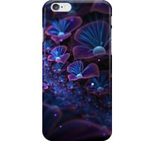 Avatar blue fractal glowing flowers iPhone Case/Skin