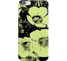 Floral Abstract-Lime Green and Black iPhone Case/Skin