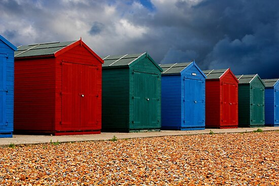 Beach Huts by John Wallace