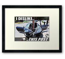 I Dislike This Post   Ferrari Framed Print