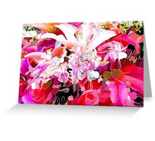 hot pink and red floral design Greeting Card