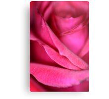 Pink Satin Rose Metal Print