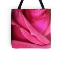 Pink Satin Rose Tote Bag