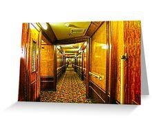 Queen Mary Corridor  Greeting Card