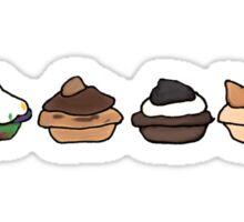 BBM cupcakes Sticker