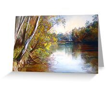 Wattle Time - Goulburn River Greeting Card