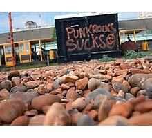 Punk Rock Sucks Photographic Print
