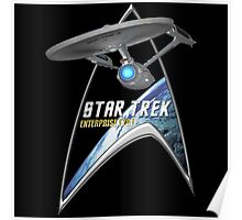 StarTrek Command Silver Signia Enterprise 1701  2 Poster