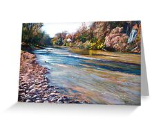 Rocks along the Goulburn Greeting Card
