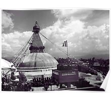 Boudha Stupa, view from cafe du temple Poster