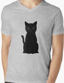 Kitten Eyes Mens V-Neck T-Shirt