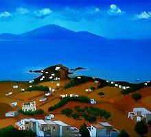 Pyrgi in Paros by Kostas Koutsoukanidis
