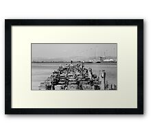 Old jetty at Leith docks Framed Print