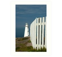 Working lighthouse at Cape Spear Art Print