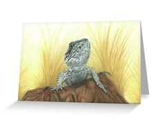 Osiris the Western Bearded Dragon Greeting Card