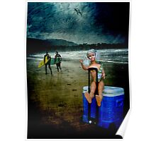 Rolling Rock Beach BARBIE Poster
