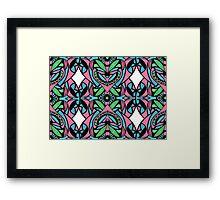 Red blue green pattern Framed Print