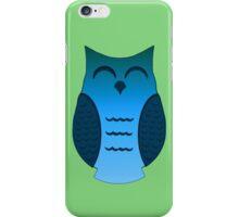 Happy Aqua Owl iPhone Case/Skin
