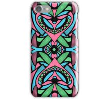 Red blue green pattern iPhone Case/Skin
