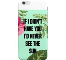 Never See The Sun iPhone Case/Skin