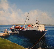Loading Fox Bay, Falklands by David McEwen