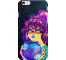 Psychic Girl With Crystal Ball iPhone Case/Skin