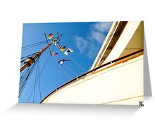 Queen Mary Flags Greeting Card