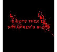 Chris's Blood Photographic Print