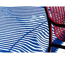 Red Bench Photographic Print