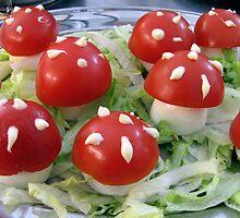 Op een rode paddenstoel.... by Hans Bax