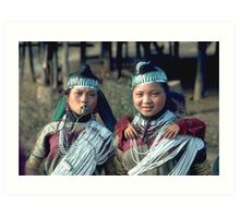 Karen hilltribe girls in traditional dress Art Print