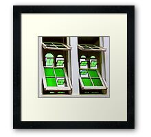 Green Glass Views Green Glass Windows Framed Print
